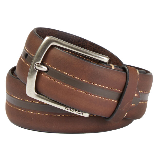 Two-Tone Belt,Brown Stone,large