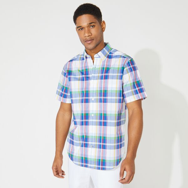 PLAID SHORT SLEEVE SHIRT - Varsity Blue Wash