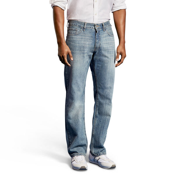 Light Tidewater Wash Relaxed Fit Jeans - Lakeshore Wash