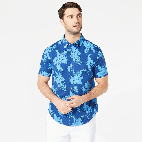 FLORAL PRINT HARBOR SHIRT - Estate Blue