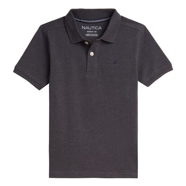 LITTLE BOYS' J-CLASS ANCHOR POLO (4-7) - Grey Heather