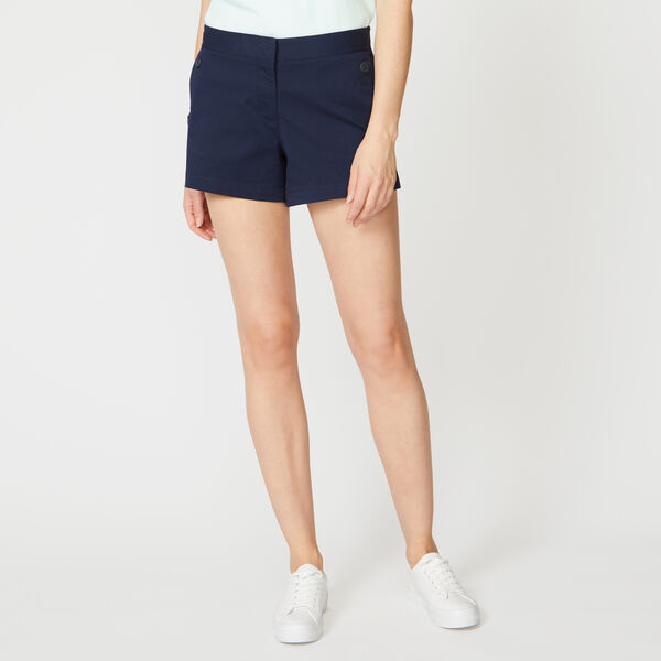 "4"" STRETCH TWILL SAILOR SHORTS - Stellar Blue Heather"