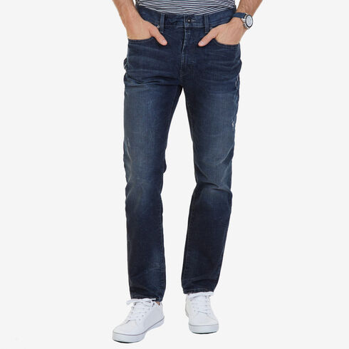 Cusp Blue Wash Athletic Fit Jeans - Riviera Blue