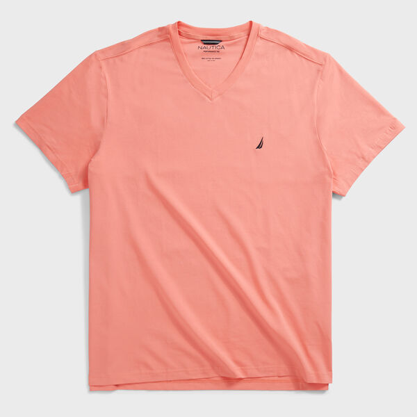 BIG & TALL V-NECK T-SHIRT - Pale Coral
