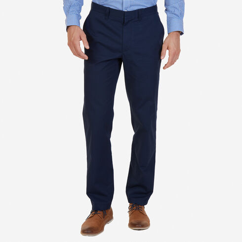 Classic Fit Bedford Cord Pants - Navy