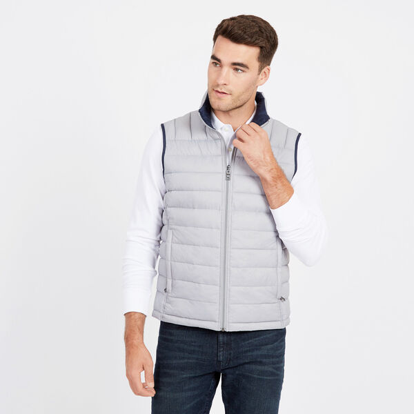Endeavour Quilted Reversible Vest - Ocean/Graphite Heather