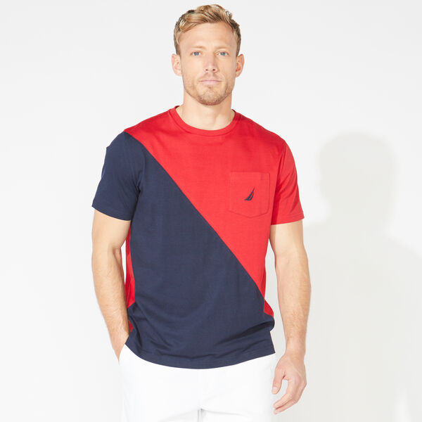 COLORBLOCK POCKET TEE - Nautica Red
