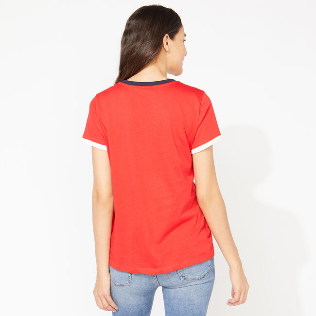 NAUTICA LOGO COLORBLOCK T-SHIRT,Tomales Red,large