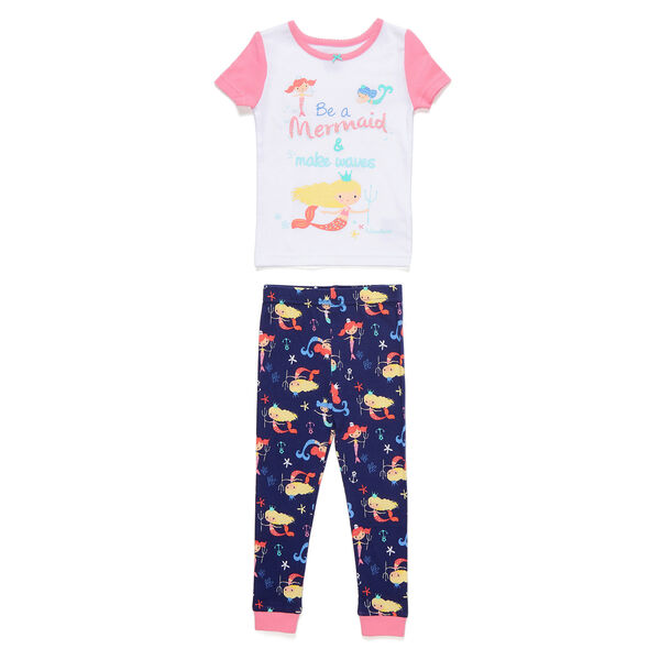 Toddler Girls' Be a Mermaid PJ Pants Set (2T-4T) - Castaway Aqua