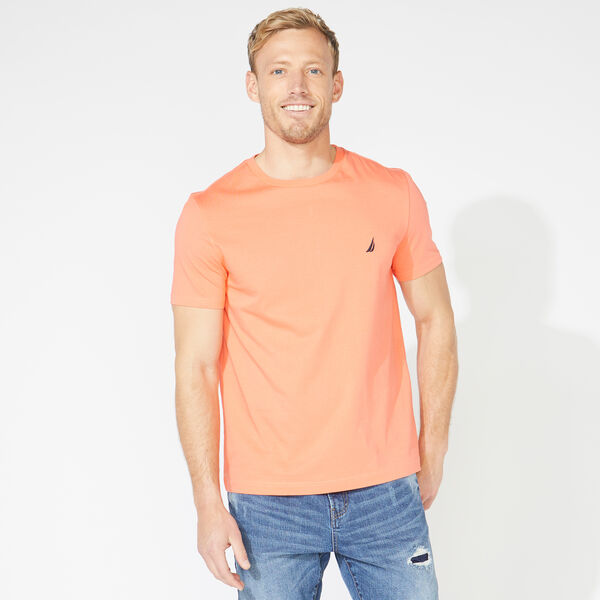 SOLID CREW NECK T-SHIRT - Livng Coral