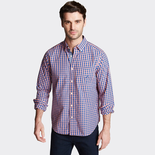 CLASSIC FIT POPLIN SHIRT IN GINGHAM - Ginger