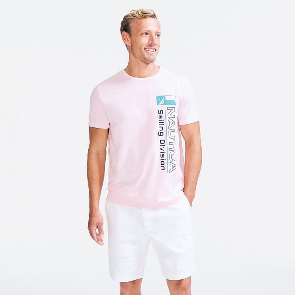 SUSTAINABLY CRAFTED SAILING DIVISION GRAPHIC T-SHIRT - Pale Orchid