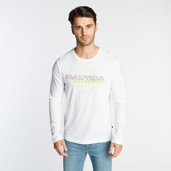NAUTICA COMPETITION LONG SLEEVE LOGO TEE - Bright White