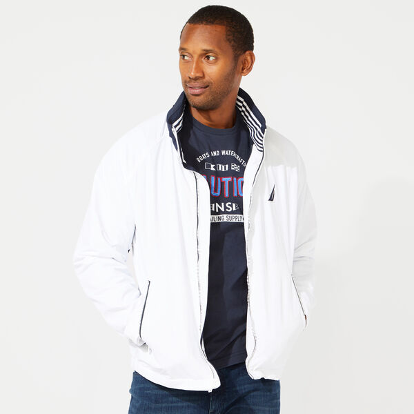 83 BOMBER JACKET WITH CONCEALED HOOD - Bright White