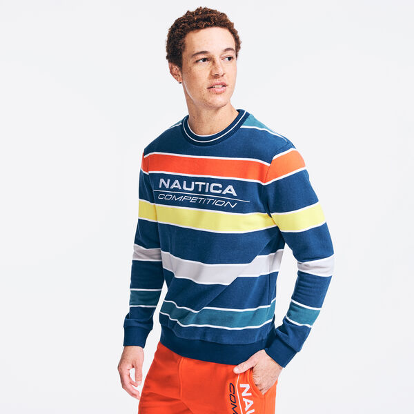 COMPETITION STRIPED SWEATSHIRT - Navy