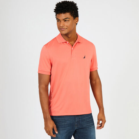 Short Sleeve Classic Fit Performance Polo - Spiced Coral