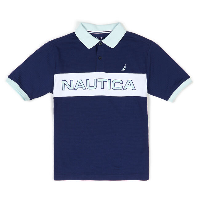 Boys' Charter Nautica Billboard Heritage Polo (8-20),Bait Cast Blue,large