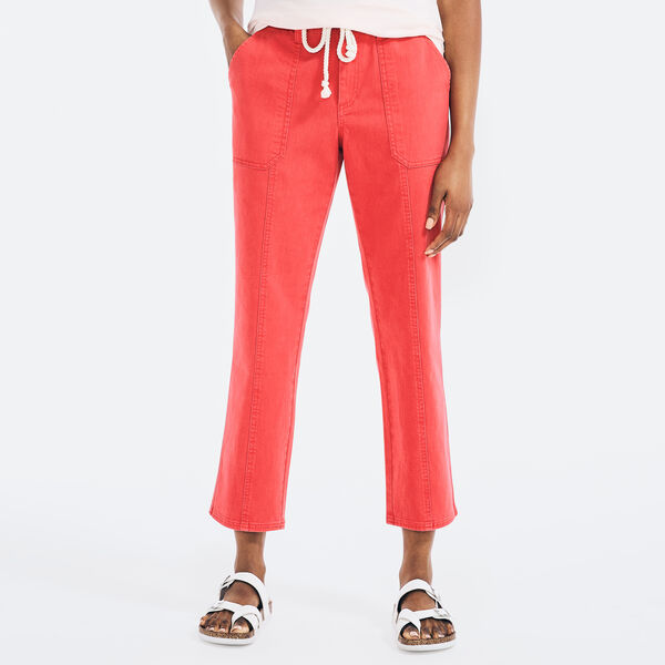 RELAXED FIT DRAWCORD PANT - Buoy Red