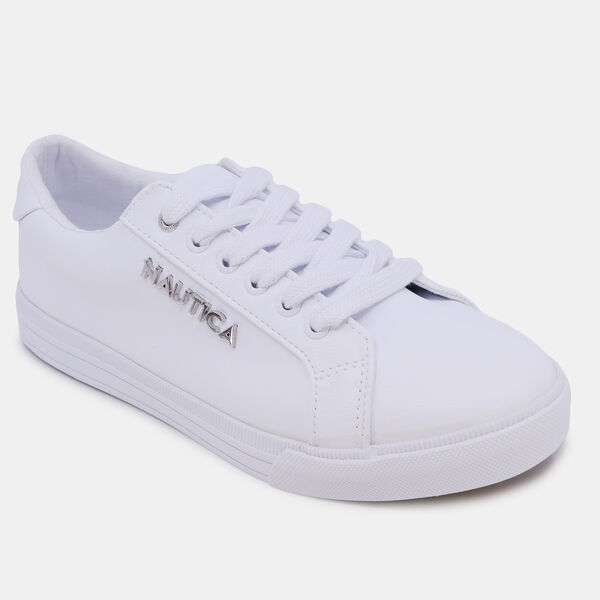 WIDE-LACE LOGO SNEAKER - Antique White Wash