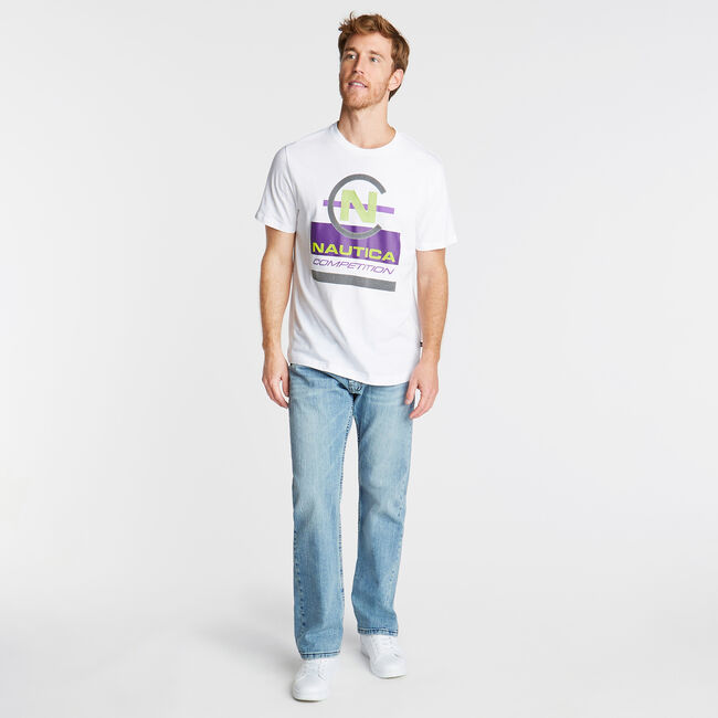 NAUTICA COMPETITION GRAPHIC TEE,Bright White,large