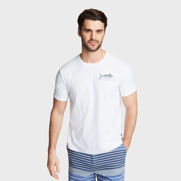 MARLIN FISHING GRAPHIC T-SHIRT - Bright White