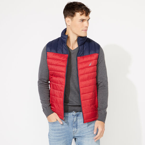 LIGHTWEIGHT REVERSIBLE VEST WITH TEMPASPHERE - Nautica Red