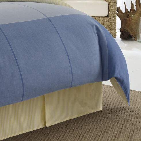 Beech Island Bed Skirt - Delphinium Blue