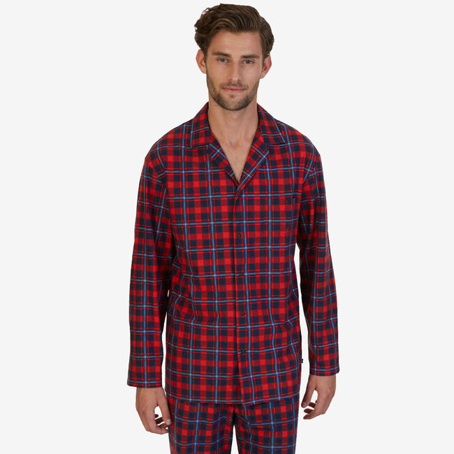 Plaid Lightweight Sueded Fleece Sleep Shirt  0bf137e56