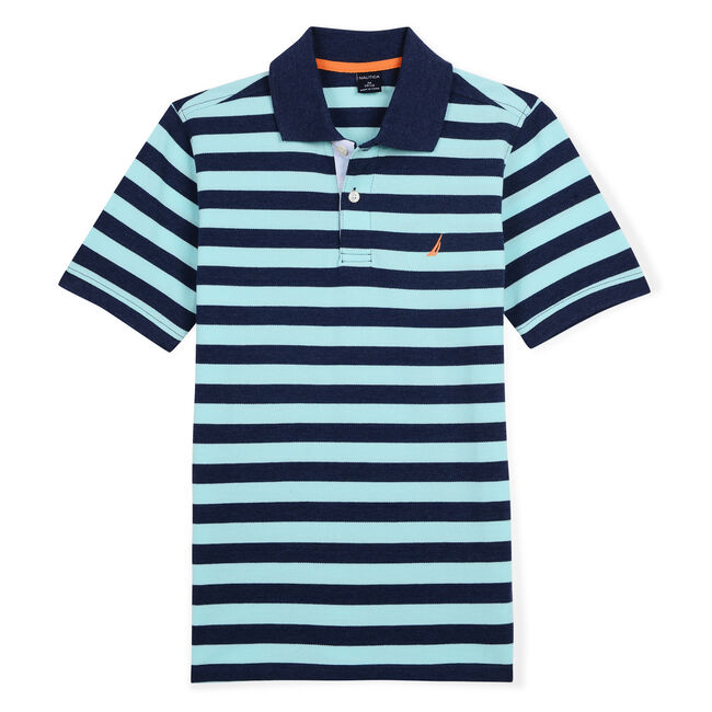 Toddler Boys' Izzy Polo in Stripe (2T-4T),Oyster Bay Blue,large