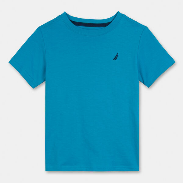 Nautica Boys Basic V-Neck Chest Logo Tee