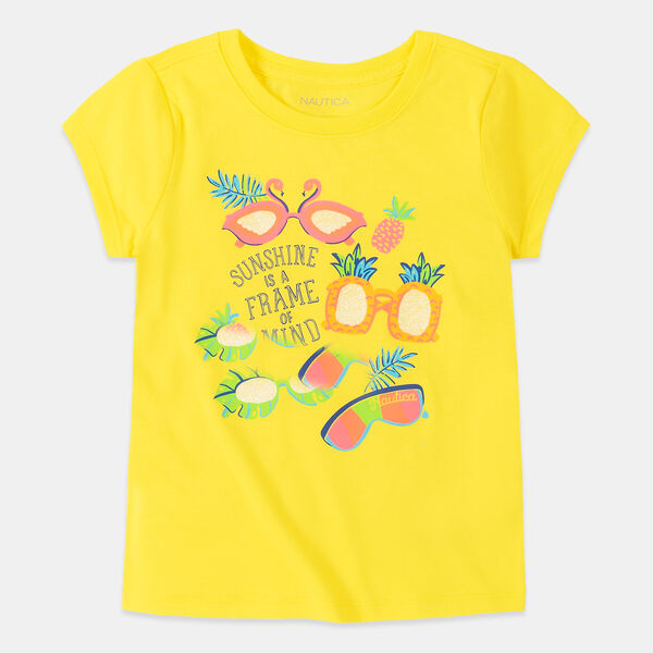 LITTLE GIRLS' SUNSHINE IS A FRAME OF MIND GRAPHIC T-SHIRT (4-7) - Lemon Twist