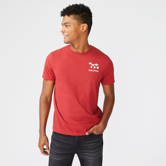 SUSTAINABLY CRAFTED FLAG GRAPHIC T-SHIRT,Lotus,large