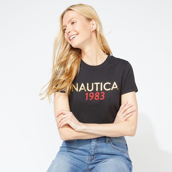 NAUTICA 1983 FOIL GRAPHIC T-SHIRT - True Black
