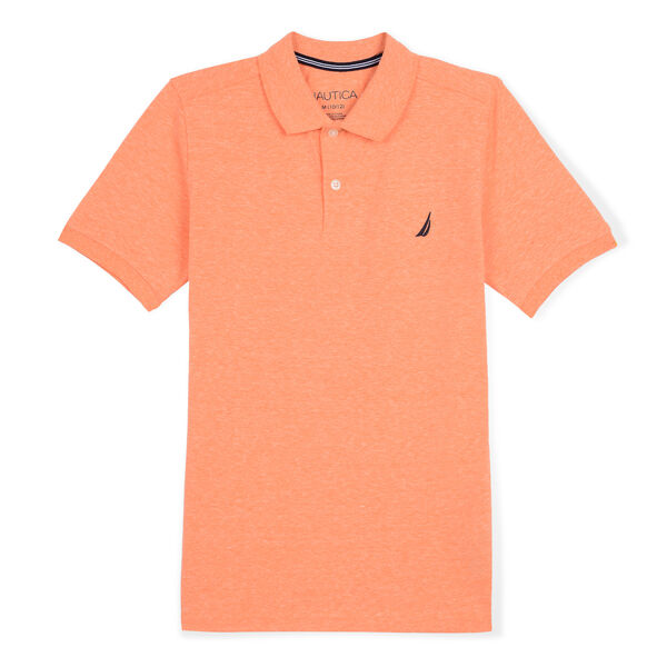 BOYS' ORLANDO DECK POLO (8-20) - Fleet Orange