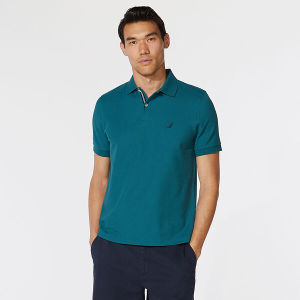CLASSIC FIT DECK KNIT POLO - Evergreen