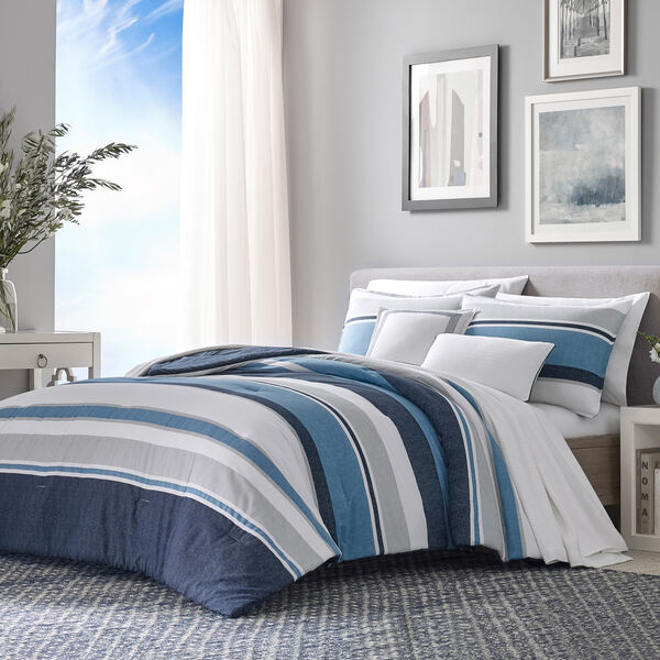 REVERSIBLE STRIPED KING COMFORTER-SHAM BONUS SET - Multi