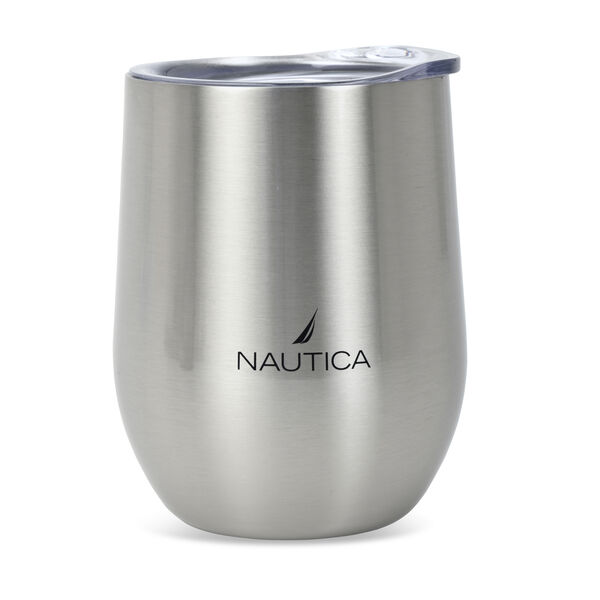 J-CLASS LOGO DOUBLE-WALLED STAINLESS STEEL TUMBLER - Graphite Heather