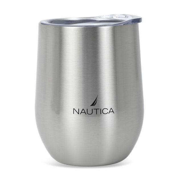 J-CLASS LOGO DOUBLE-WALLED STAINLESS STEEL TUMBLER,Graphite Heather,large