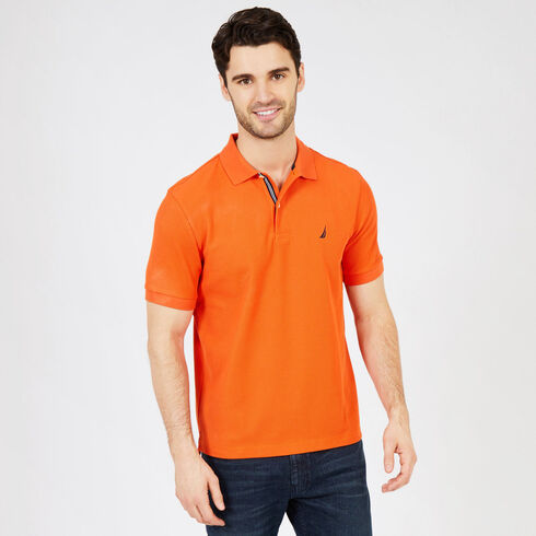 Short Sleeve Classic Fit Deck Polo - Coral