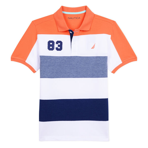 BOYS' RYAN 83 HERITAGE POLO IN COLORBLOCK - Faded Orange