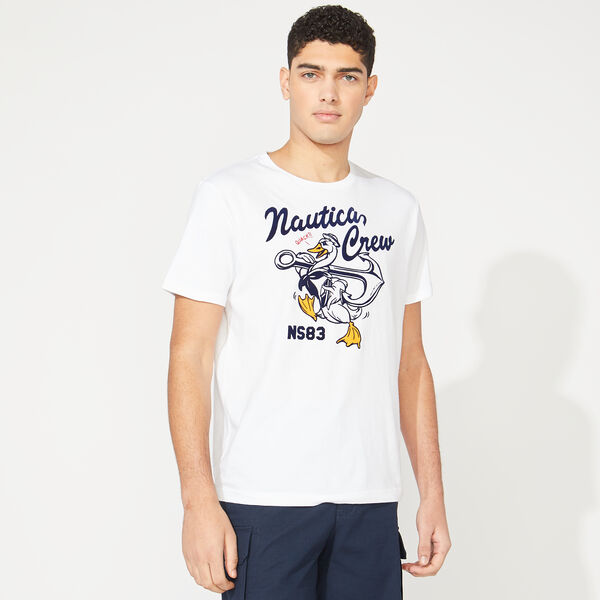NAUTICA CREW DUCK GRAPHIC TEE - Bright White