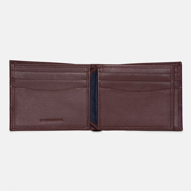 LEATHER BIFOLD WALLET,Brown Stone,large