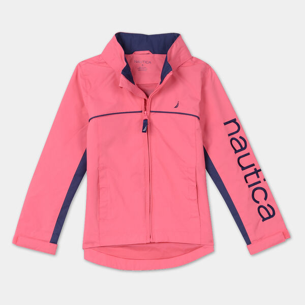LITTLE GIRLS' WATER-RESISTANT J-CLASS JACKET (4-7) - Fancytail Fuschia