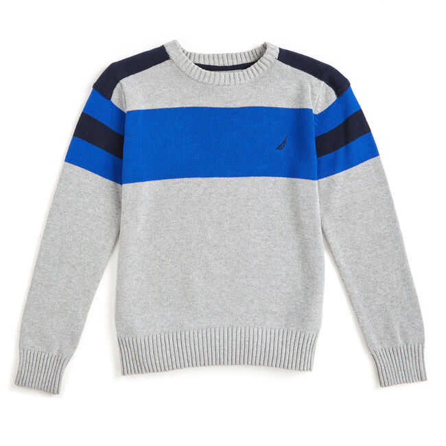 Boys' Cruise Crewneck Sweater (8-20),Grey Heather,large