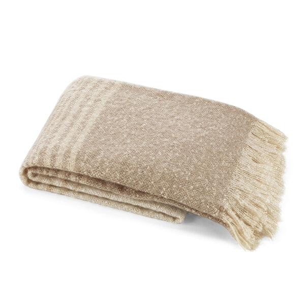 Sandkey Twine Large Throw Blanket - Sand Drift