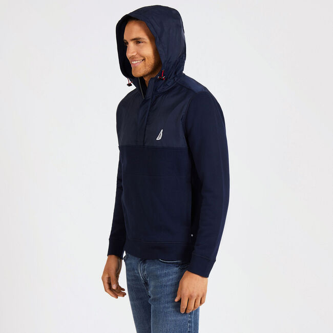 Tech Fleece Pullover Hoodie,Navy,large