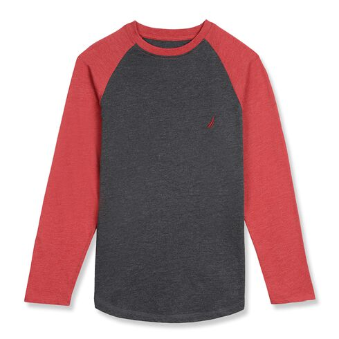 Little Boys' Hudson Colorblock V-Neck Tee (4-7) - Petunia