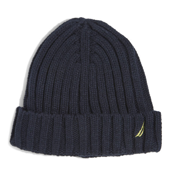 RIBBED KNIT CUFF HAT - Pure Dark Pacific Wash
