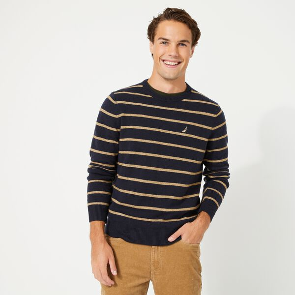 SUSTAINABLY CRAFTED STRIPE J-CLASS SWEATER - Navy