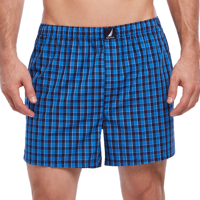 Gingham Woven Boxers,Breeze,large